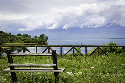 Photograph - Bench By The Lake. by Slavica Koceva