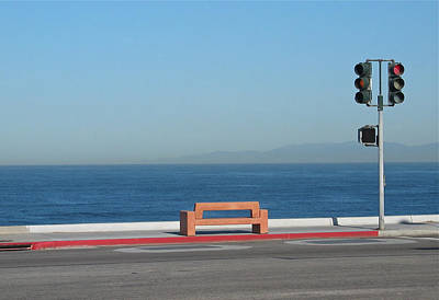 Photograph - Bench By The Sea by Stuart Hicks