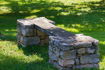 Photograph - Bench In The Shade by Robert Hebert