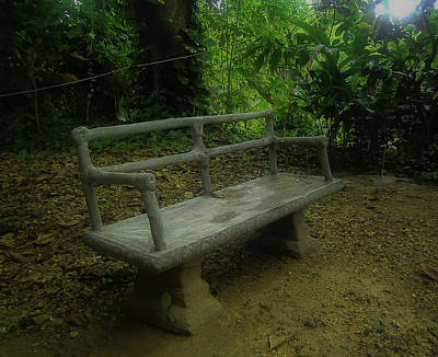 Photograph - Bench by Jennifer Burley