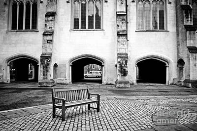 Whats Your Sign - Bench on a square by Marina Farr