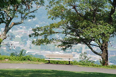 Photograph - Bench On Edge Of Overlook by Kenny Glover