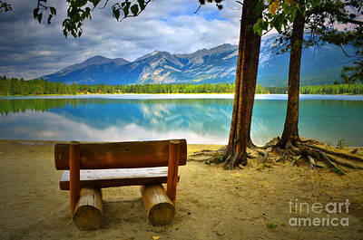 Photograph - Bench View At Lake Edith by Tara Turner