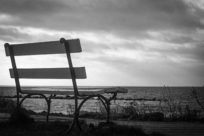 Pause Photograph - Bench With A View by Ralf Kaiser