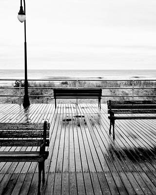 Photograph - Benches And Boardwalk by Dave Beckerman