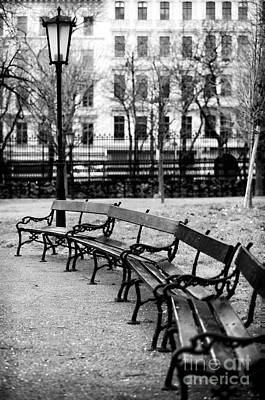 Photograph - Benches At Burggarten by John Rizzuto