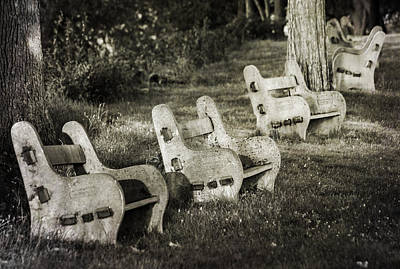 Photograph - Benches by Bill Pevlor