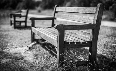 Photograph - Benches by Gary Gillette