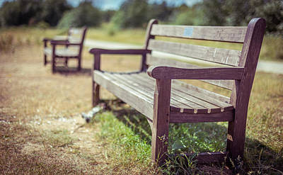 Photograph - Benches In Colour by Gary Gillette