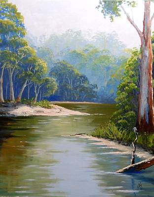 Painting - Bend In The River by Anne Gardner