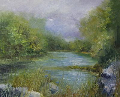Bend In The River Art Print by Donna Pierce-Clark