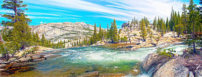 Photograph - Bend On Tuolumne River by Steven Barrows