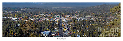 Bend Oregon Photograph - Bend Oregon From Pilot Butte by Twenty Two North Photography