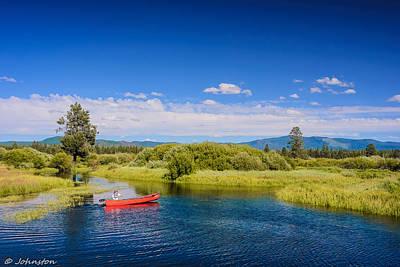Digital Art - Bend Sunriver Thousand Trails Oregon by Bob and Nadine Johnston