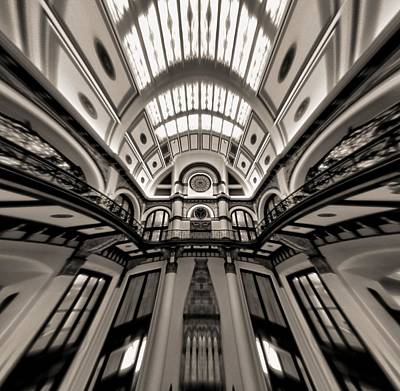Bending Time In Union Station Print by Dan Sproul