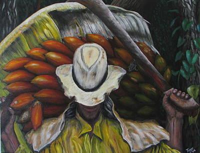 Jibaros Painting - Bendito El Pobre by Toyo Perez