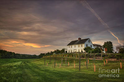 New England Village Photograph - Beneath An Evening Sky by Evelina Kremsdorf