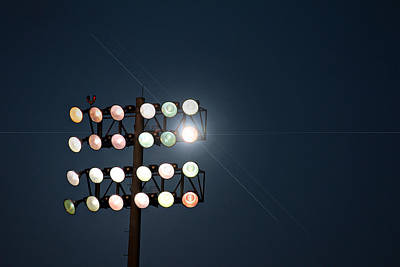 Ball Game Photograph - Beneath Friday Night Lights by Trish Mistric