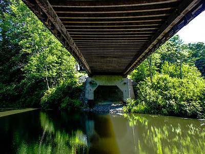 Old Bridge Abutment Photograph - Beneath The Covered Bridge by Sherman Perry