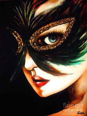 Beneath The Mask Original by Karen Zima