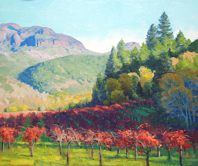Napa Painting - Beneath The Palisades by Armand Cabrera