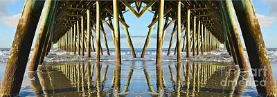 Photograph - Beneath The Pier by Kathy Baccari