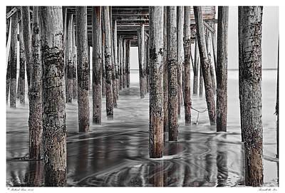 Beneath The Pier Art Print by Richard Bean