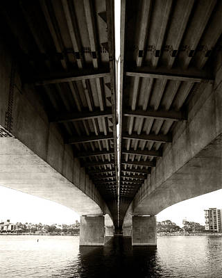 Photograph - Beneath The Queensway Bridge by Timothy Bulone