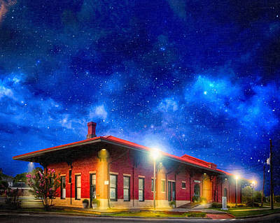 Photograph - Beneath The Stars - Montezuma Train Depot by Mark E Tisdale