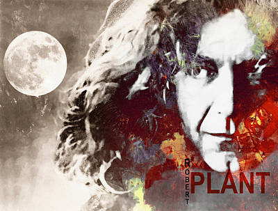 Robert Plant Wall Art - Painting - Beneath The Summer Moon by Steve K