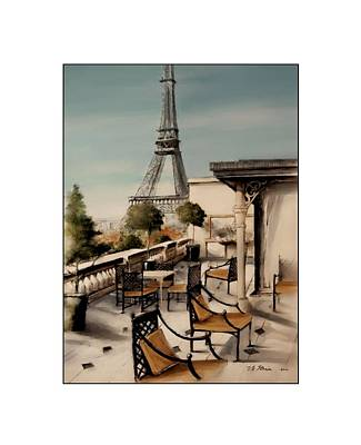 Beneath The Tower   Number 10 Art Print by Diane Strain