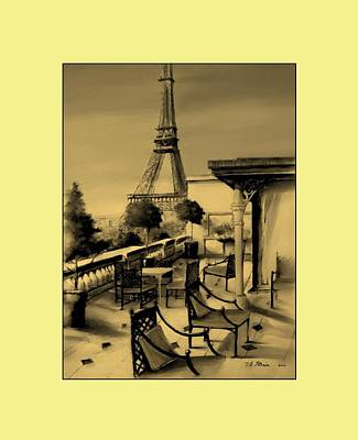 Beneath The Tower   Number 14 Art Print by Diane Strain