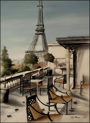 Beneath The Tower  Number 3 Art Print by Diane Strain