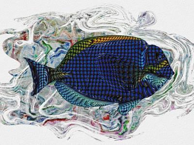 Salt Water Digital Art - Beneath The Waves 2 by Jack Zulli