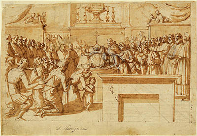 Wash Drawing - Benedetto Veli Italian, 1564 - 1639 by Quint Lox