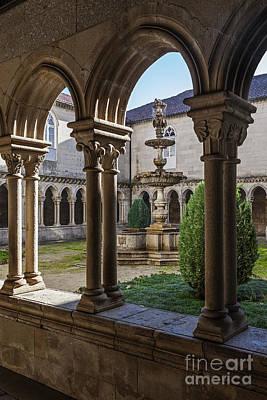 Arcade Photograph - Benedictine Gothic Cloister by Jose Elias - Sofia Pereira