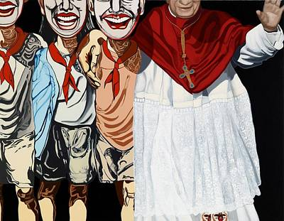 Hamburger Painting - Benediction And Zeng Fanzhi by Marcella Lassen