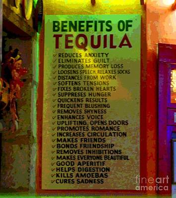 Photograph - Benefits Of Tequila by GD Rankin