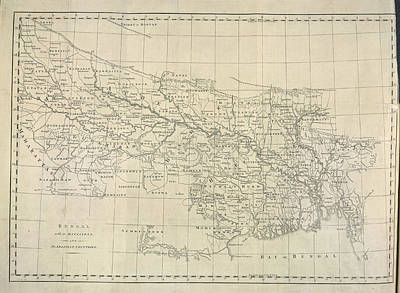 Cartography Photograph - Bengal by British Library
