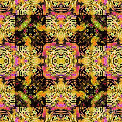 Bengal Tiger Abstract 20130205p80 Art Print