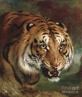 Fauna Painting - Bengal Tiger by Pg Reproductions