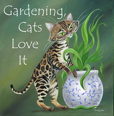 Bengal's Love Gardening Art Print