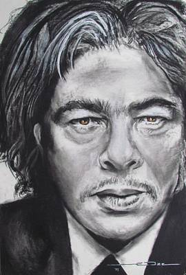 Drawing - Benicio Del Toro by Eric Dee