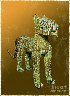 Benin Bronze Leopard Art Print by Harold Bonacquist