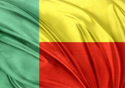 Benin Flag Art Print by Les Cunliffe