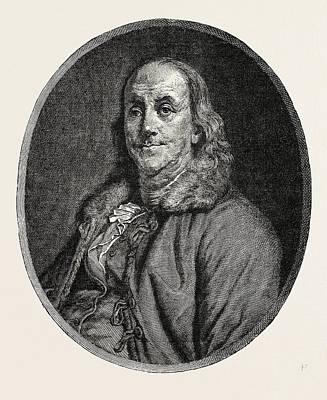 Benjamin Franklin, 1706-1790, Author, Politician, Scientist Art Print by English School