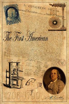 Benjamin Franklin Art Print by Andrew Fare