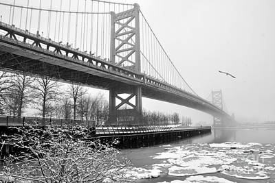 Photograph - Benjamin Franklin Bridge by Andrew Dinh