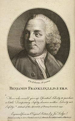 Benjamin Franklin Photograph - Benjamin Franklin by British Library