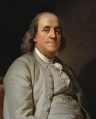 Benjamin Franklin Painting - Benjamin Franklin by Joseph Siffred Duplessis